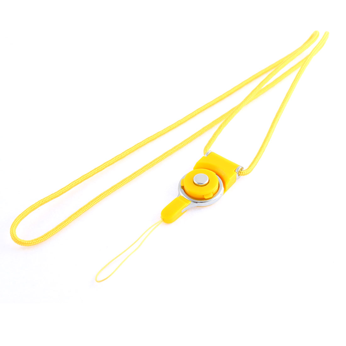 Yellow Detachable Ring Camera Mobile Cell Phone Neck Strap Lanyard