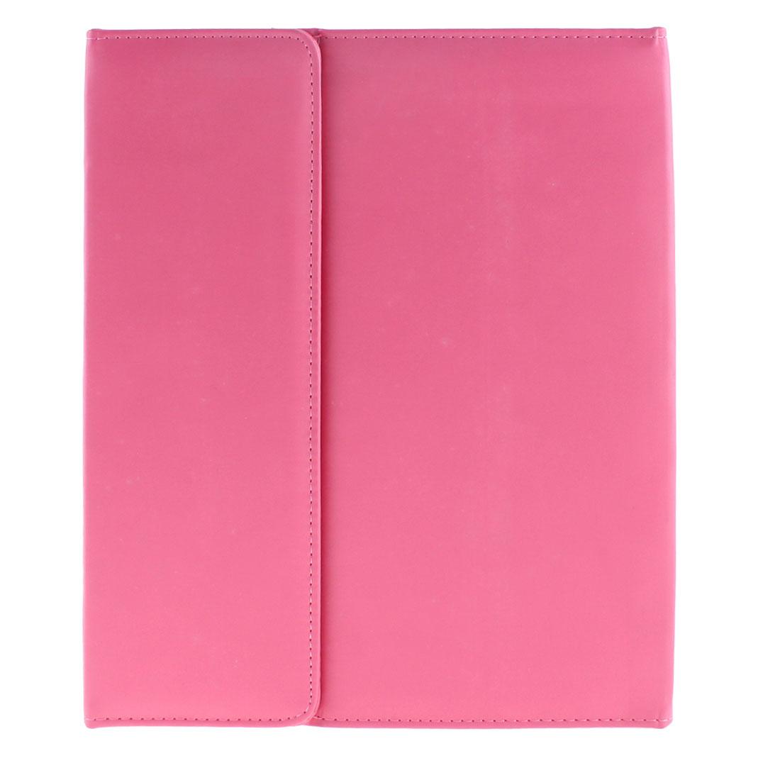 PU Leather Magnetic Folio Flip Tablet Protective Case Fuchsia for iPad Mini 1 2
