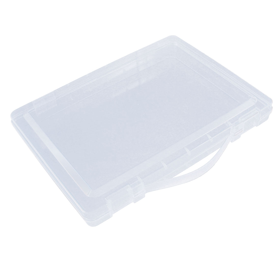 Office Shool Plastic Rectangle Paper File Certificate Holder Box Clear Blue