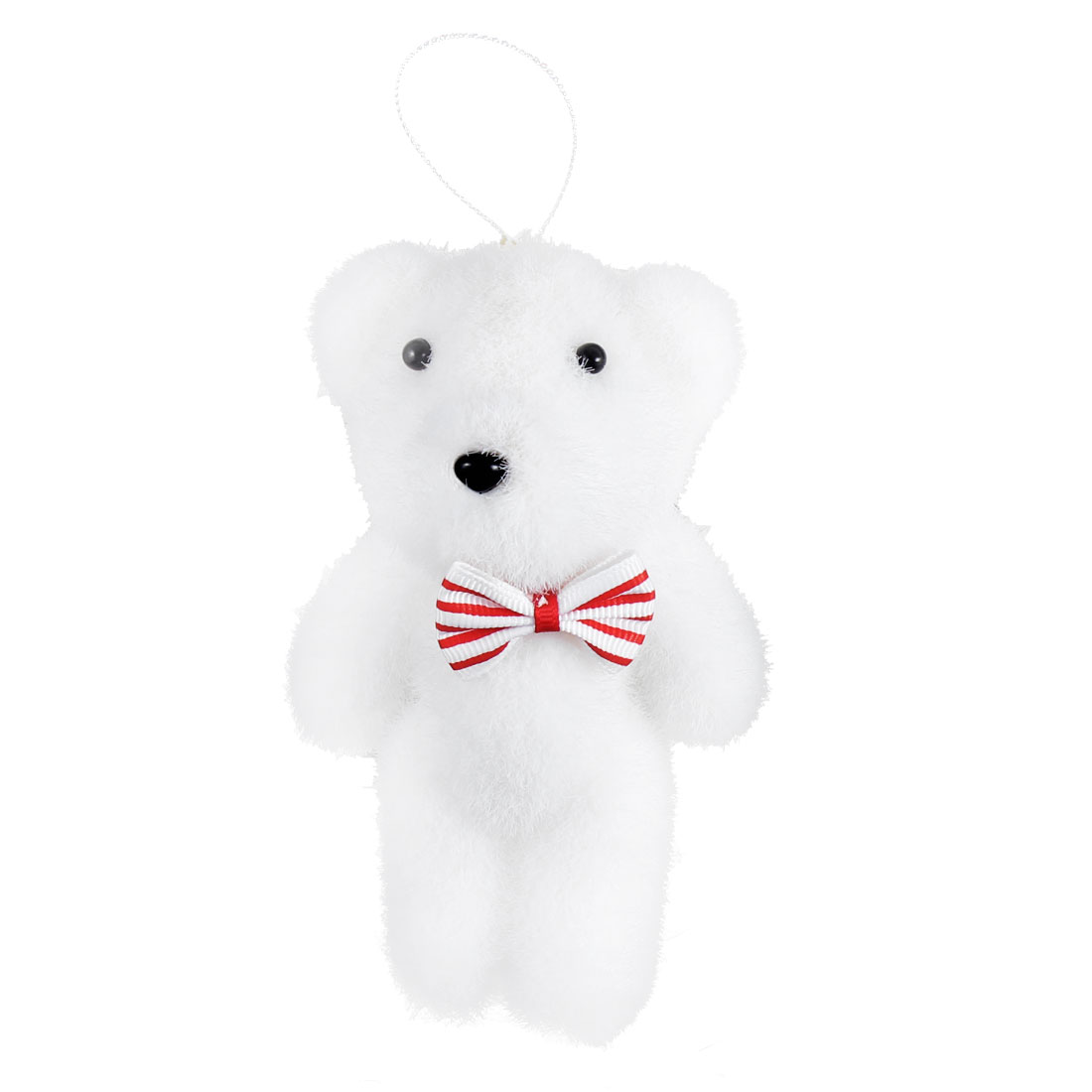Xmas Trees Hanging Ornament Doll Bear Shape Christmas Toy Gift White Red