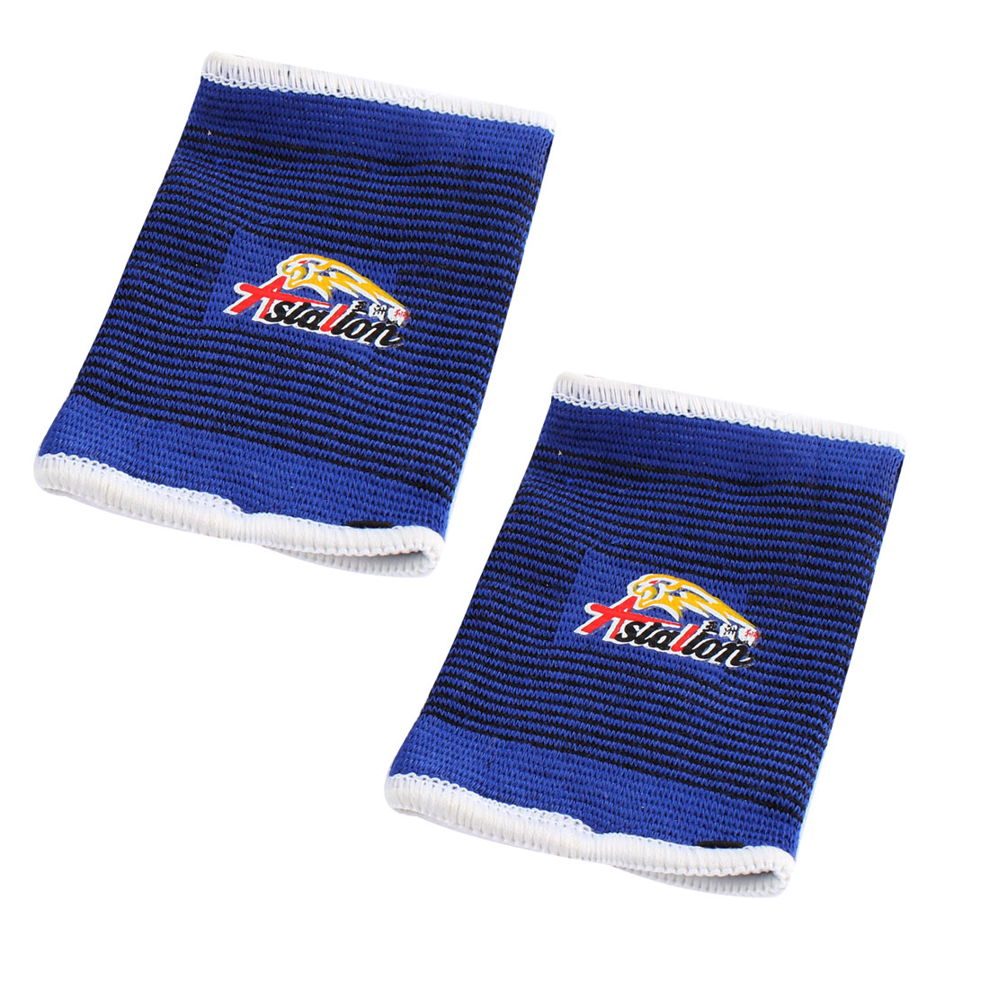 Sports Elastic Band Wrist Sleeve Wrap Support Protector Pair Tri Color