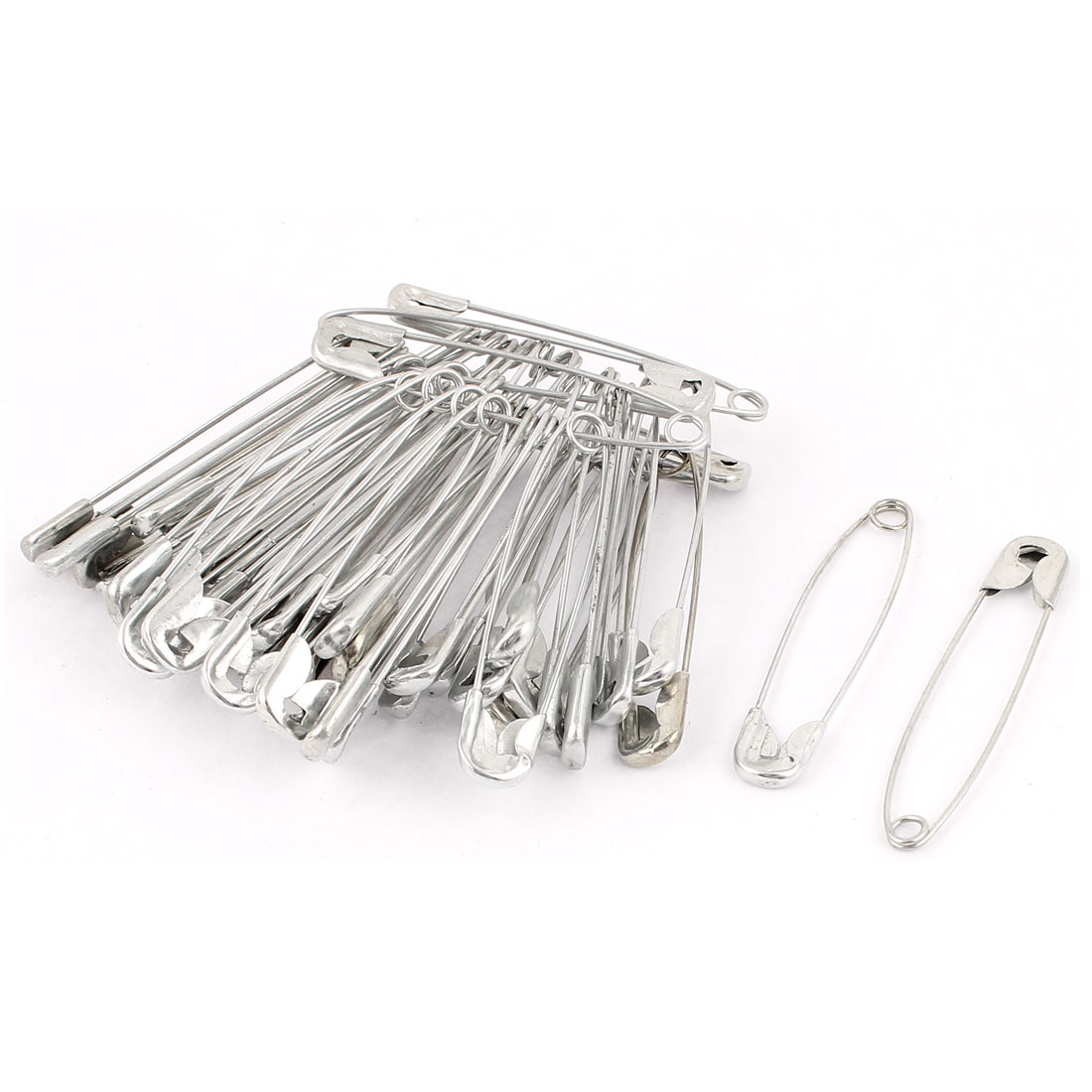 Housewares Metal Sewing Knitted Skirt Craft Brooch Safety Pin 53x10mm 50 Pcs