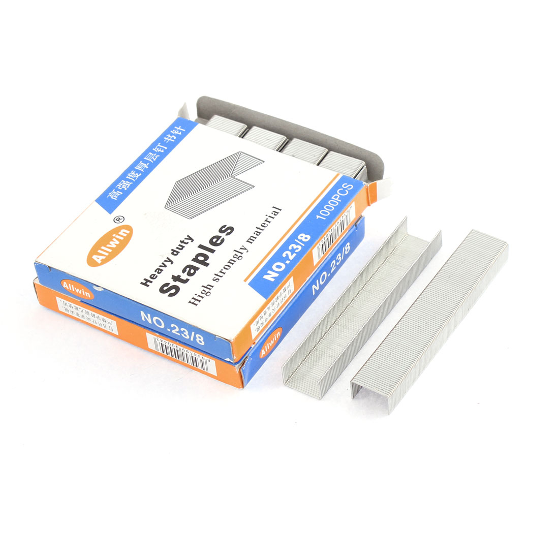 Office School Paper Document Binding Staples Fastener 2000 Pcs Silver Tone