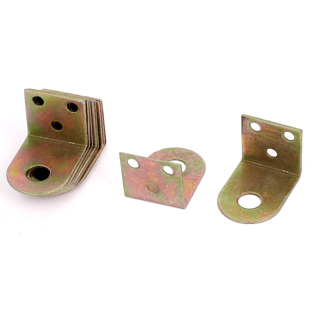 34mmx24mmx25mm L Shape Zinc Plated Shelf Corner Brace Right Angle Bracket 12pcs