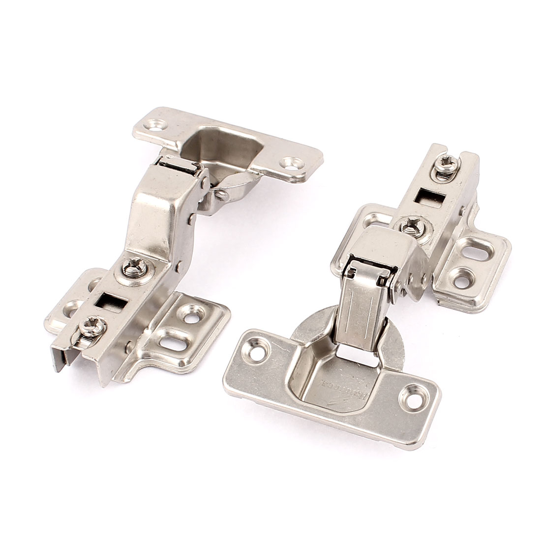 2 Pcs Furniture Hardware Buffer Metal Concealed Cabinet Hinge