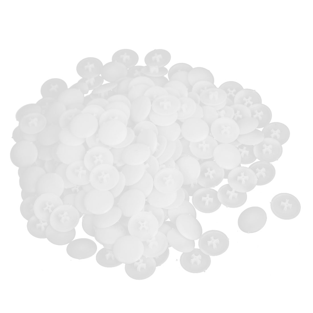 White Plastic Round Caps Furniture Press Fit Pozi Bolts Screws Cover 300pcs