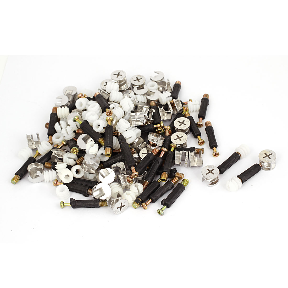 Furniture Connectors 15mm Cam Fittings Pre-inserted Nuts Dowels 50 Sets