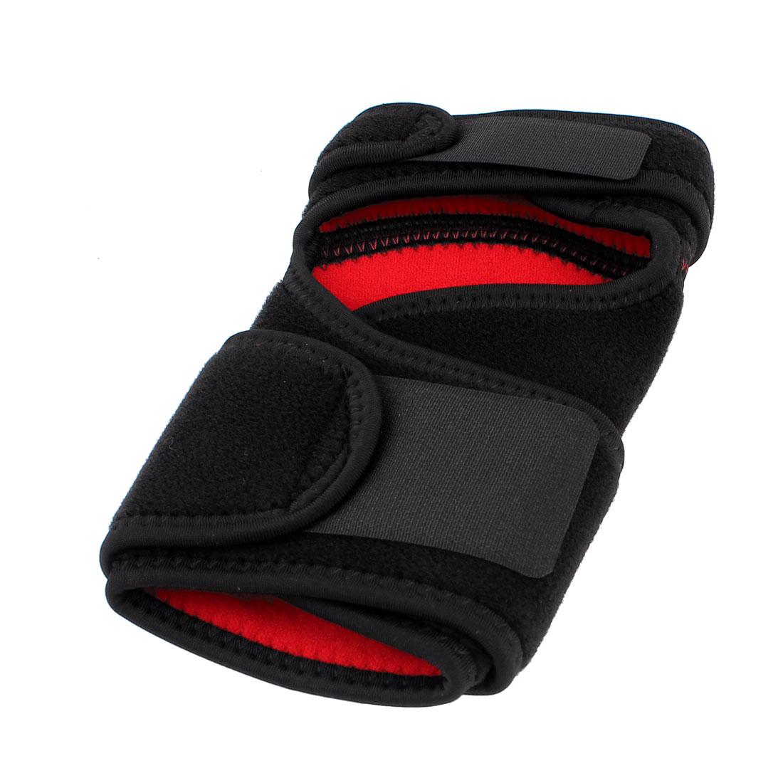 Fitness Sports Gym Workout Sport Adjustable Knee Support Brace Guard Black