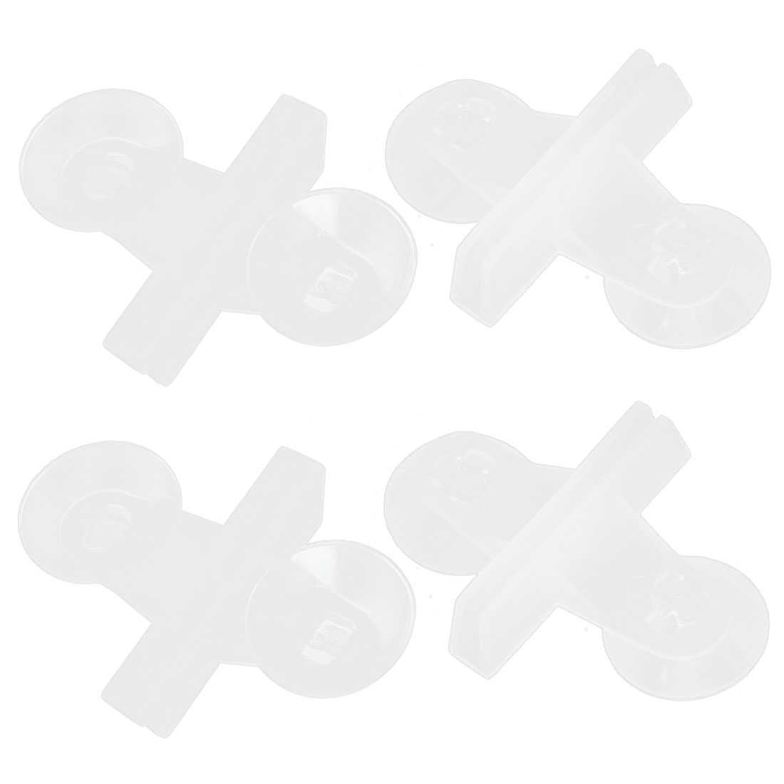 Aquarium Fish Tank Plastic Glass Suction Cup Divider Sheet Holder White 4Pcs