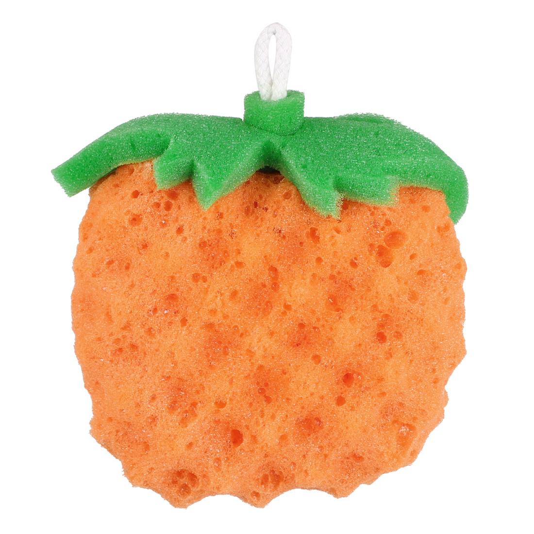 Orange Fruit Shape Bath Sponge Body Exfoliate Shower Loop Scrubber