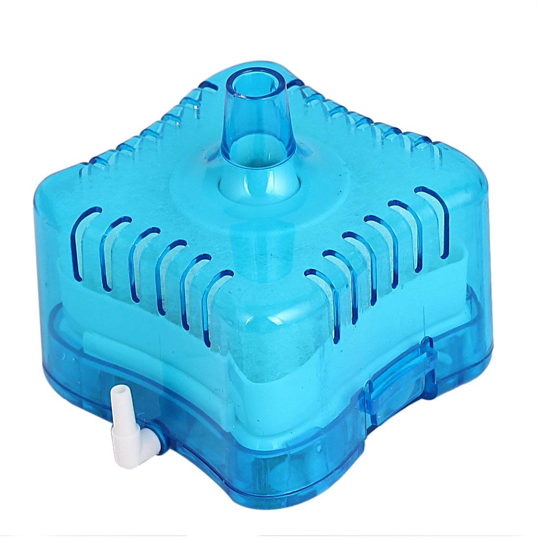 Stone Aquarium Fish Tank Sponge Removable Filter Cartridge Blue