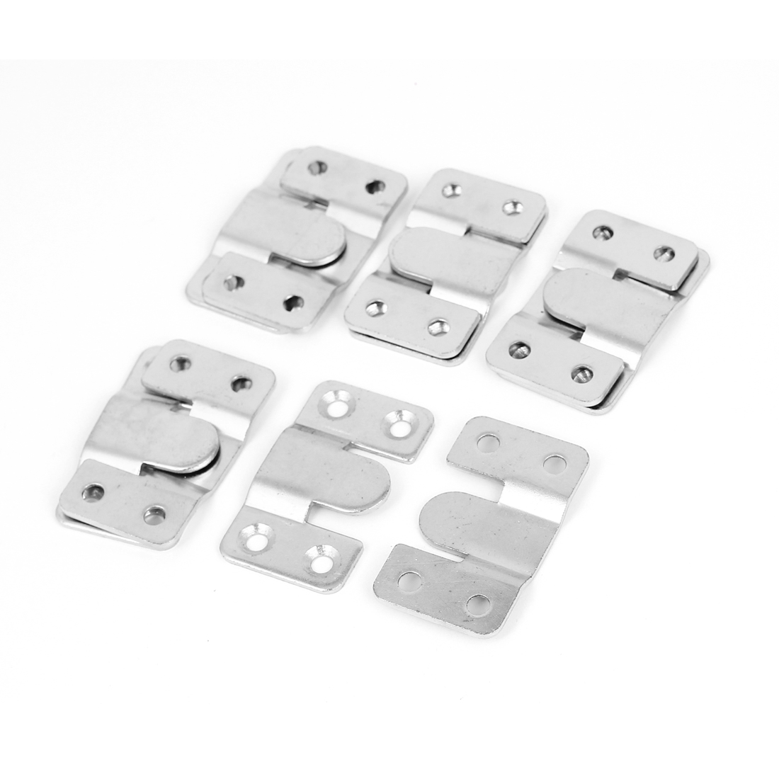 Furniture Wood Bed Rail Photo Frame Metal E-Type Hanger Hook Plates Buckle 5set