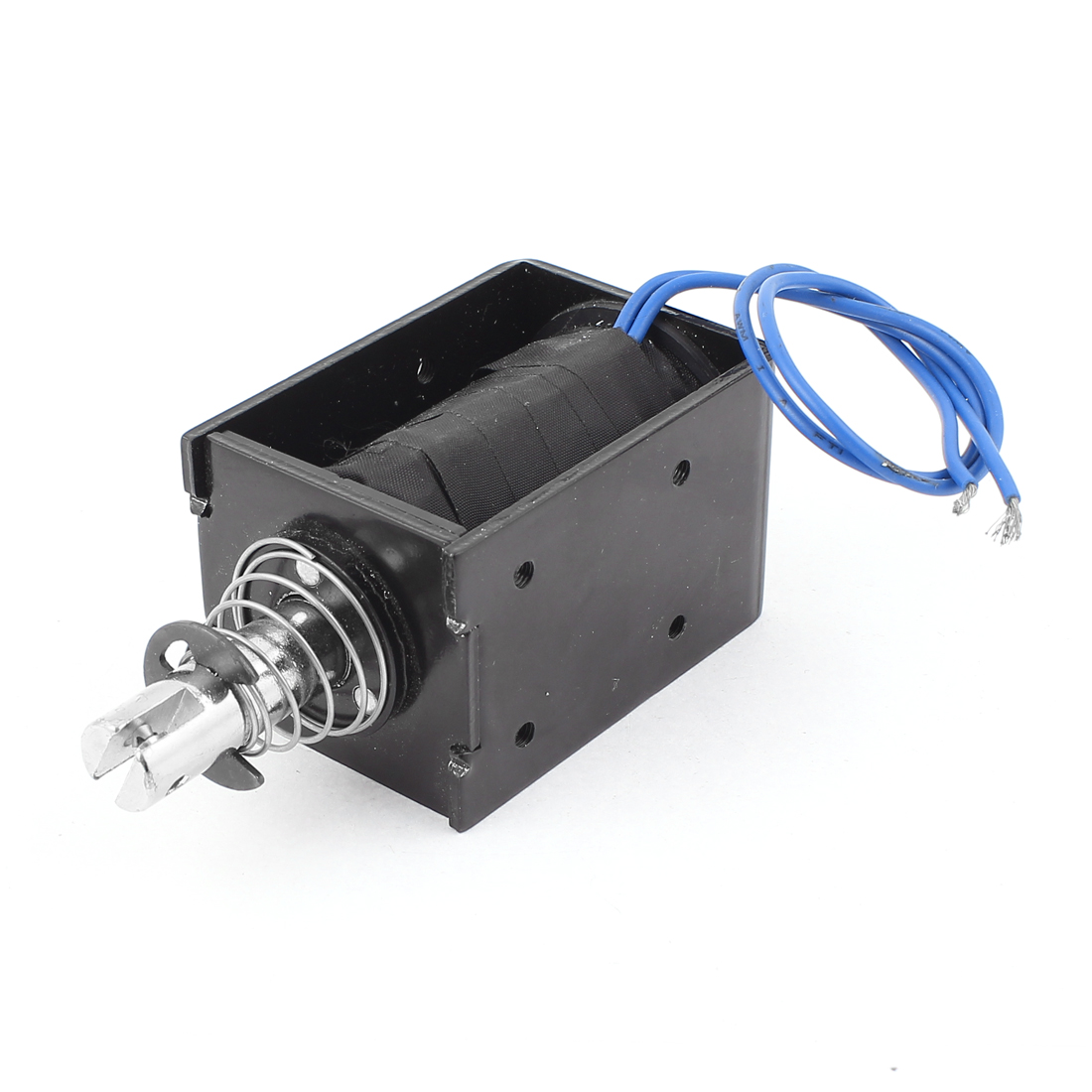 Spring Loaded Push-Pull Open Frame Solenoid Electromagnet 20mm 80N DC 12V 8A