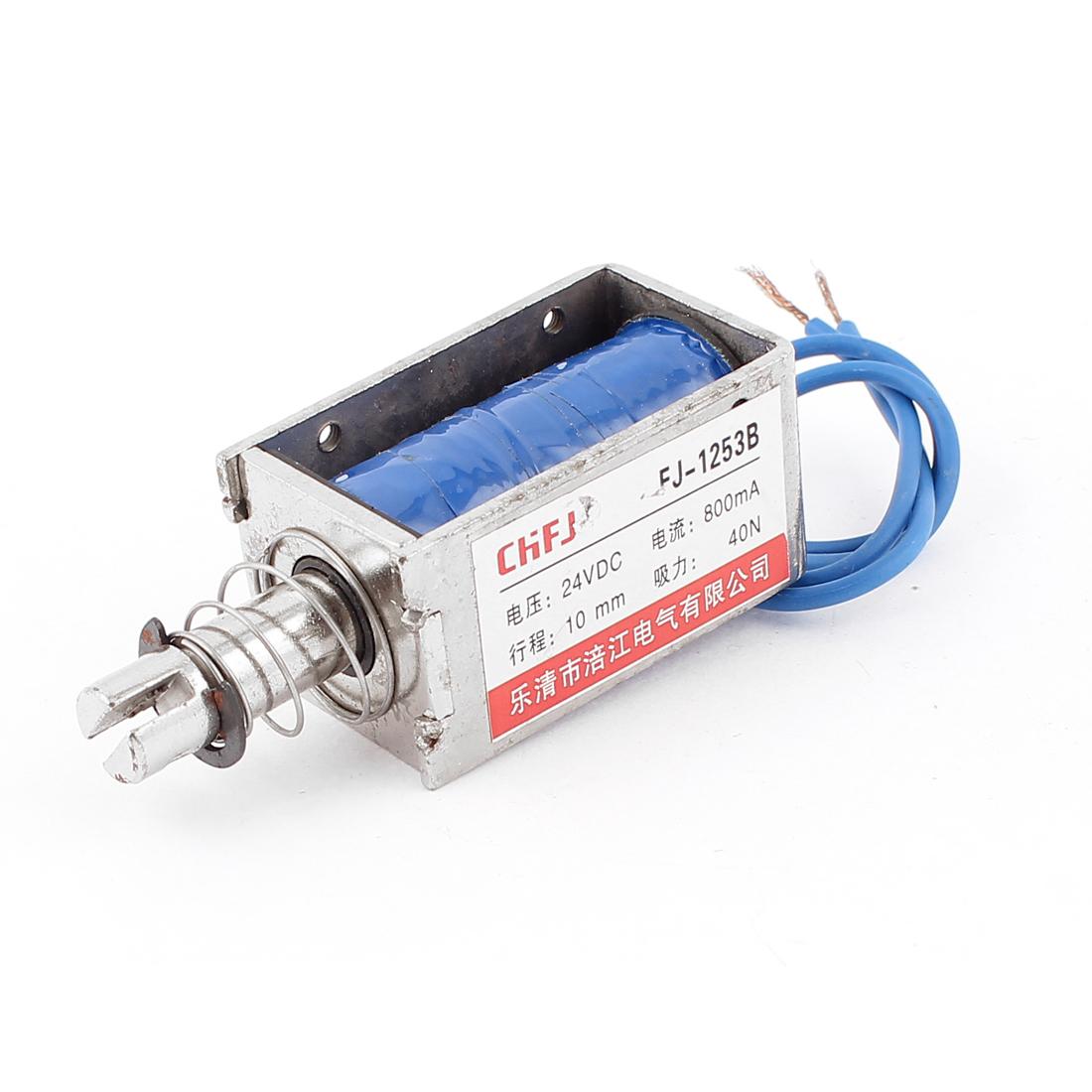 Push Pull Type DIY DC Electromagnet Magnet Solenoid 10mm 40N DC 24V 0.8A
