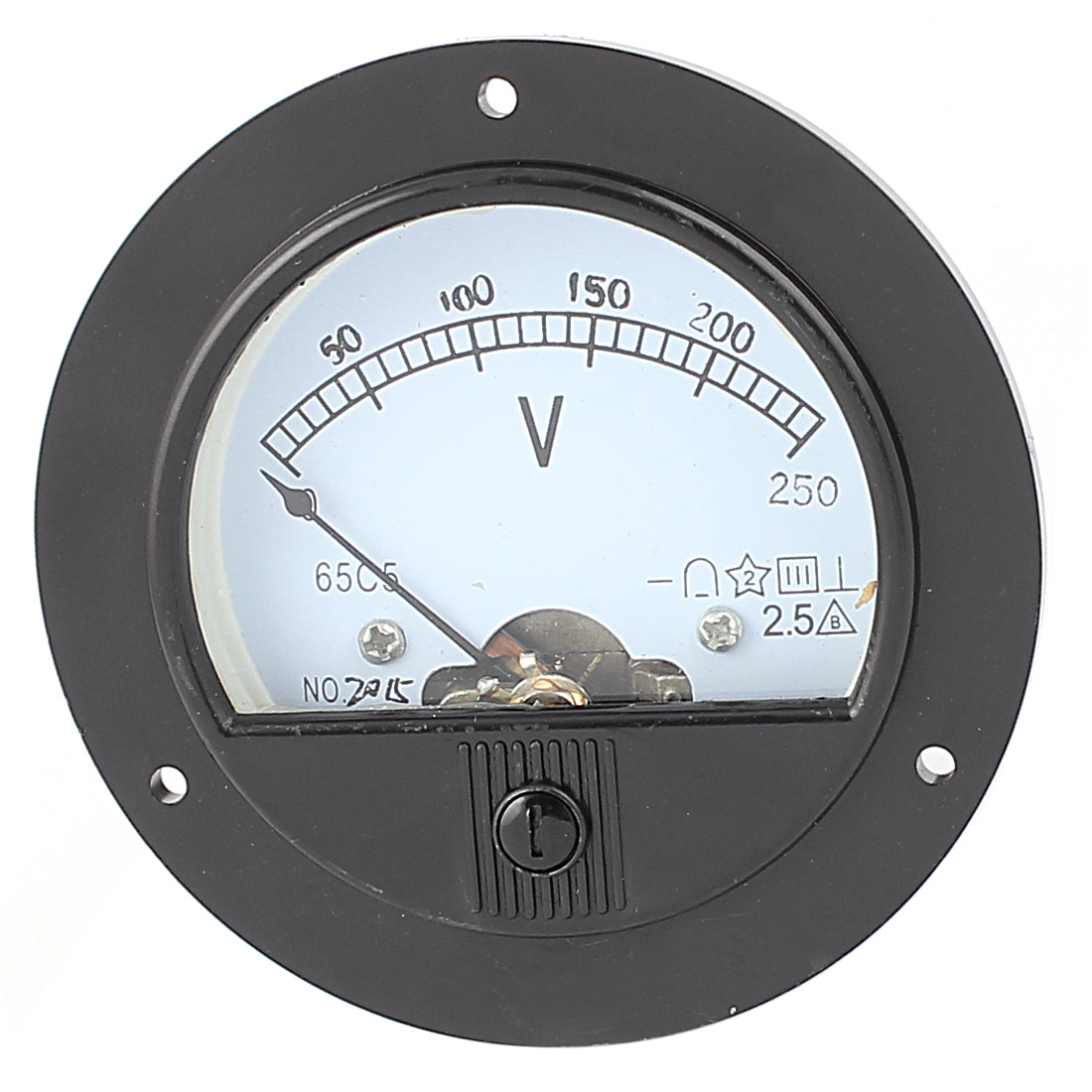 DC 0-250V Analog Panel Voltmeter Voltage Meter Measuring Gauge Class 2.5