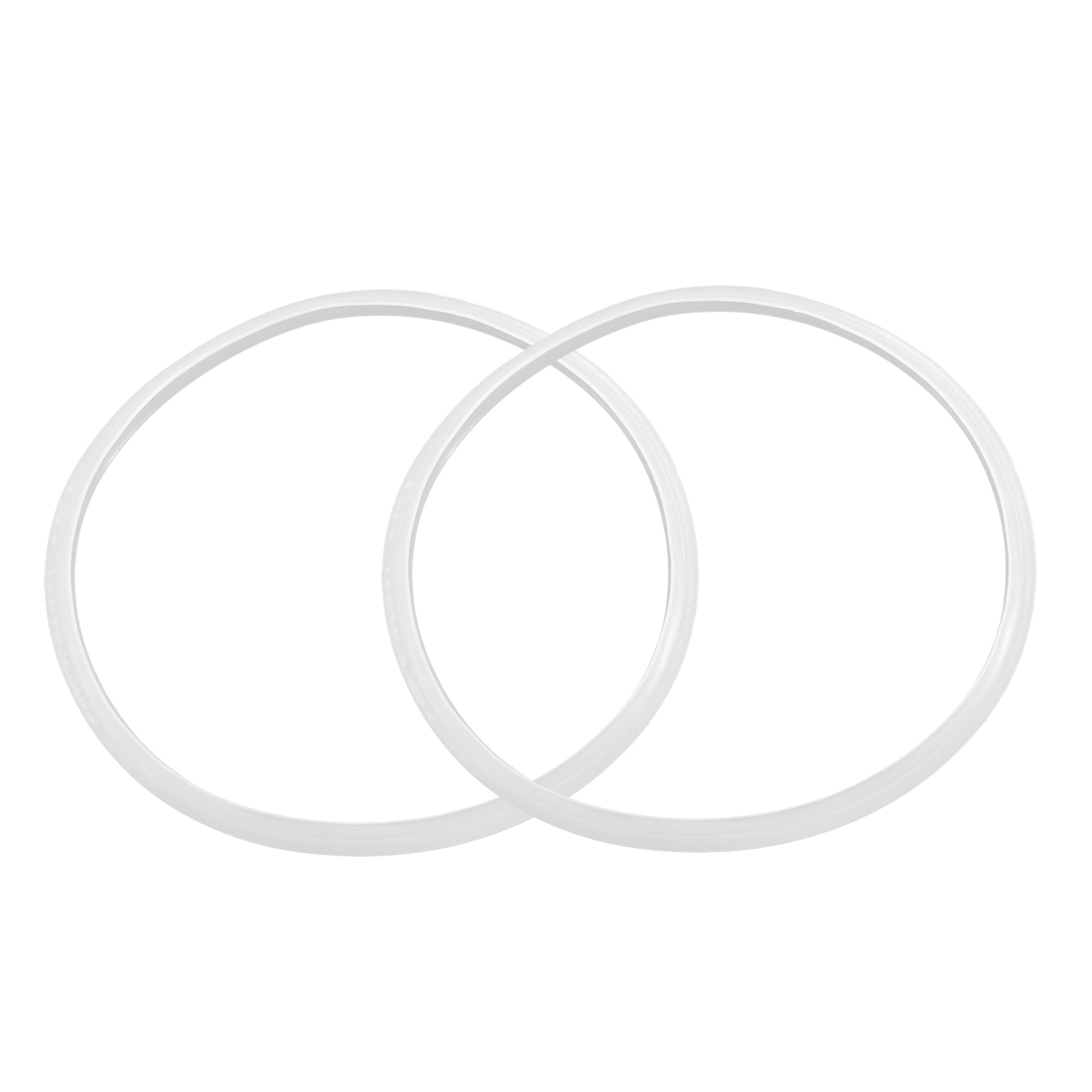 Kitchen Pressure Cooker Clear Silicone Gasket Sealing Ring 24cm Inner Dia 2pcs