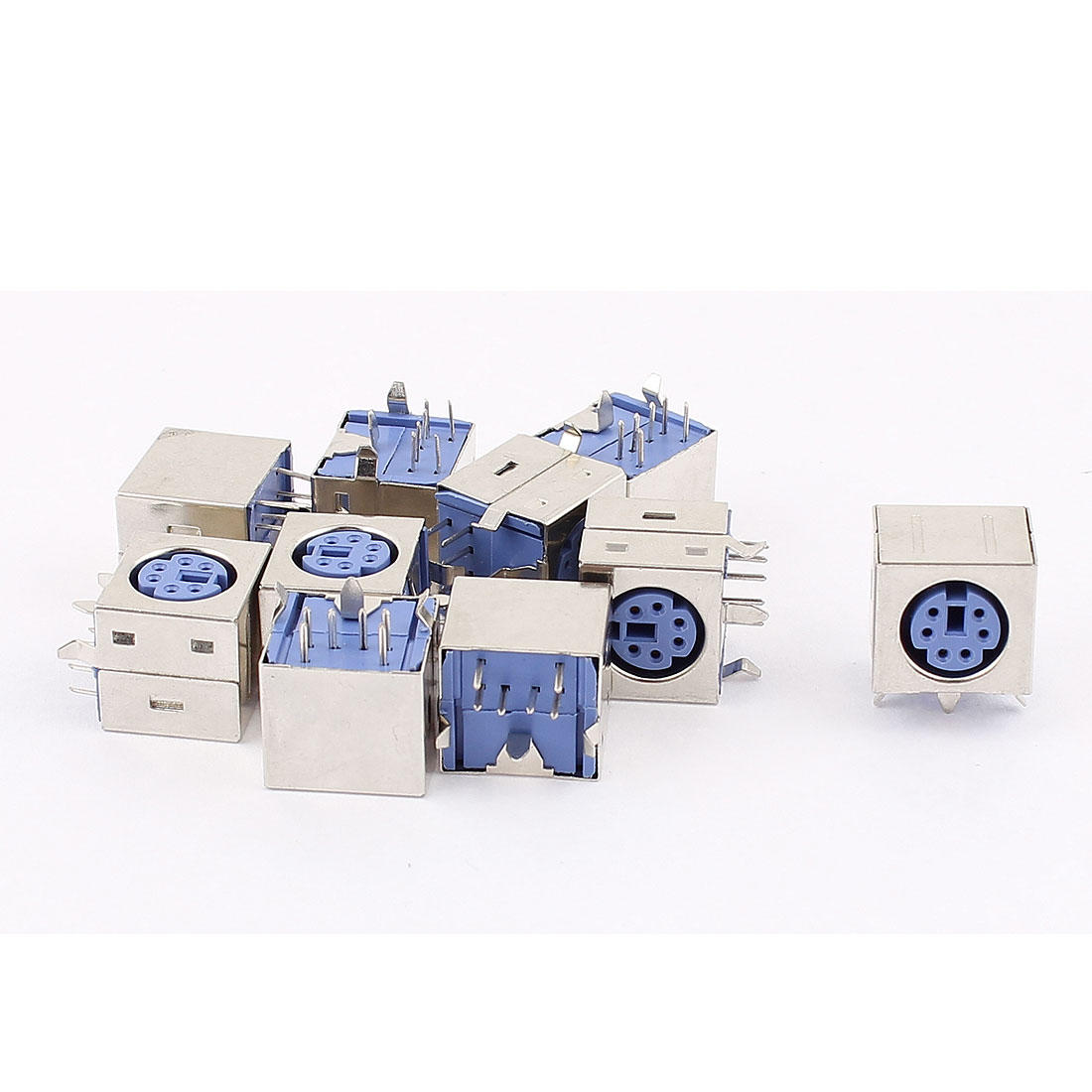 10Pcs PS/2 Female Socket 6Pins Solder Type PC Keyboard Mouse Adapter Connector