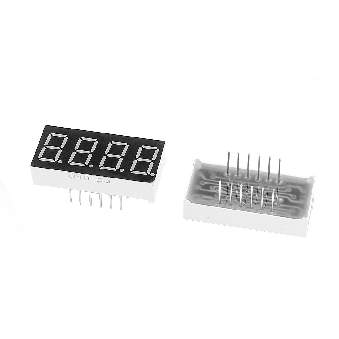 "2pcs 0.36"" 7 Segment 4 Digit Common Anode Red LED Digital Display"