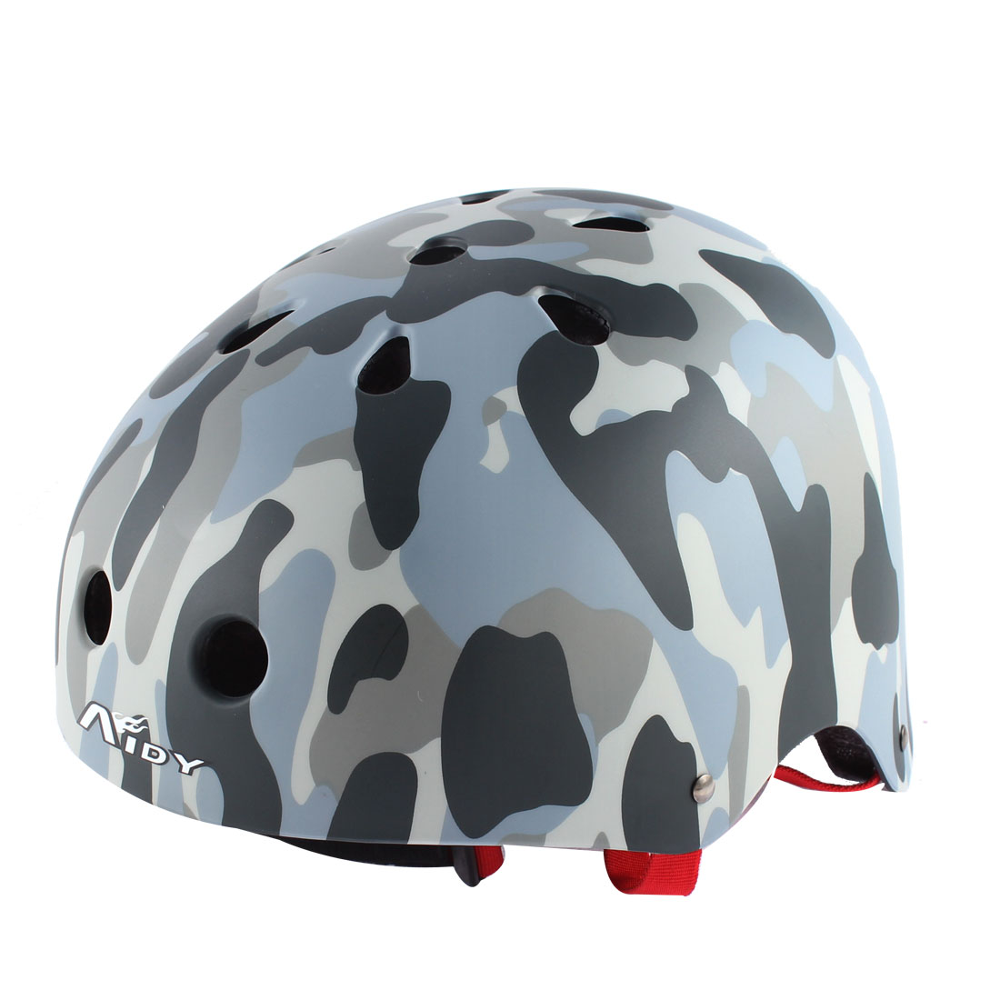 Adults Bicycle Cycling Skating Skateboard Head Protector Helmet Camouflage Gray