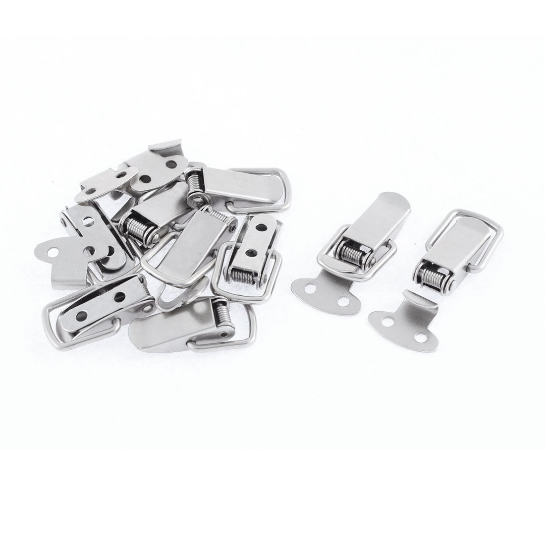 """9pcs 4.5cm 1.8"""" Spring Loaded Metal Pull Handle Door Toggle Latch Catch Clamp for Toolbox Chest Case"""