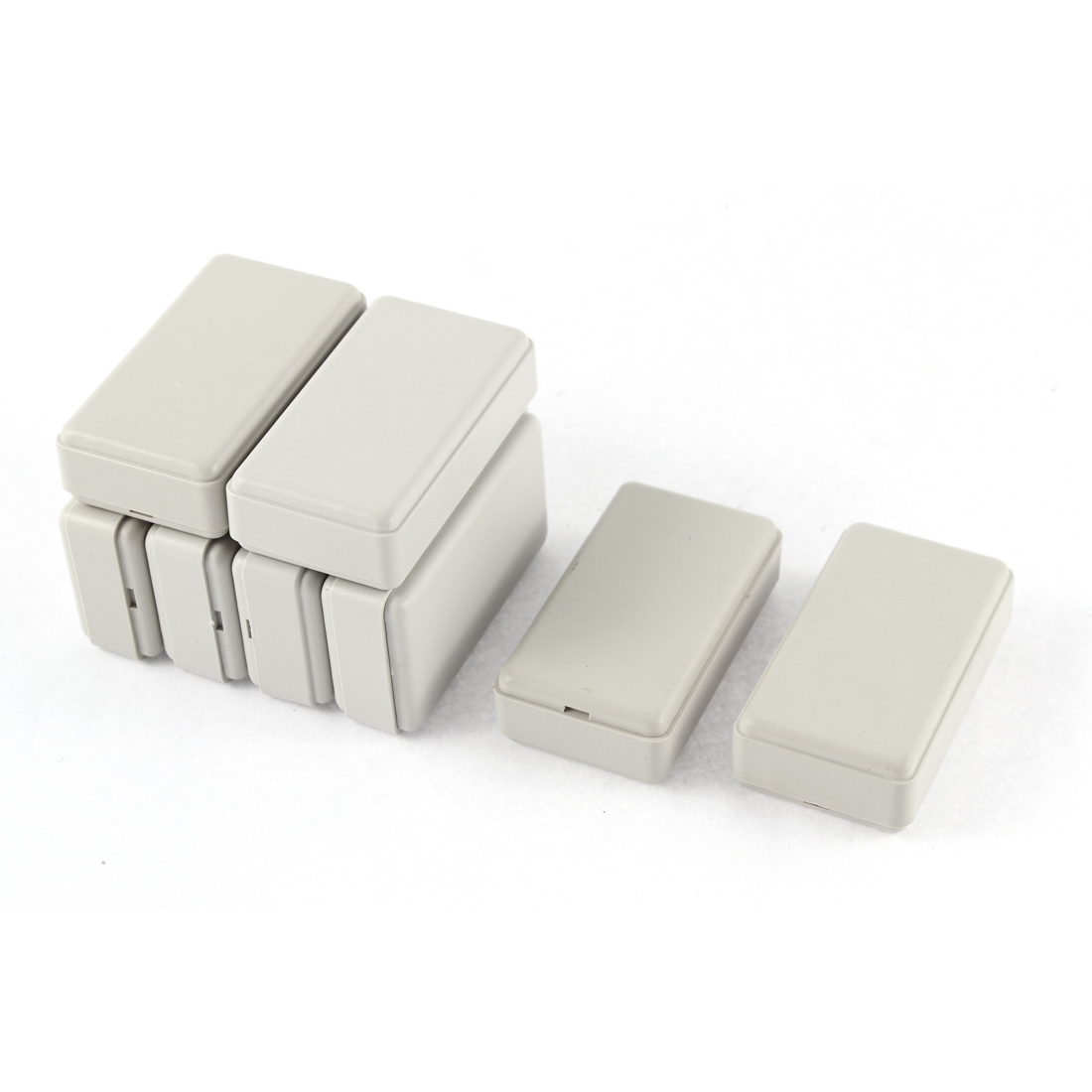 8pcs Circuit DIY Gray Plastic Mini Junction Box Case Container 49 x 28 x 14mm