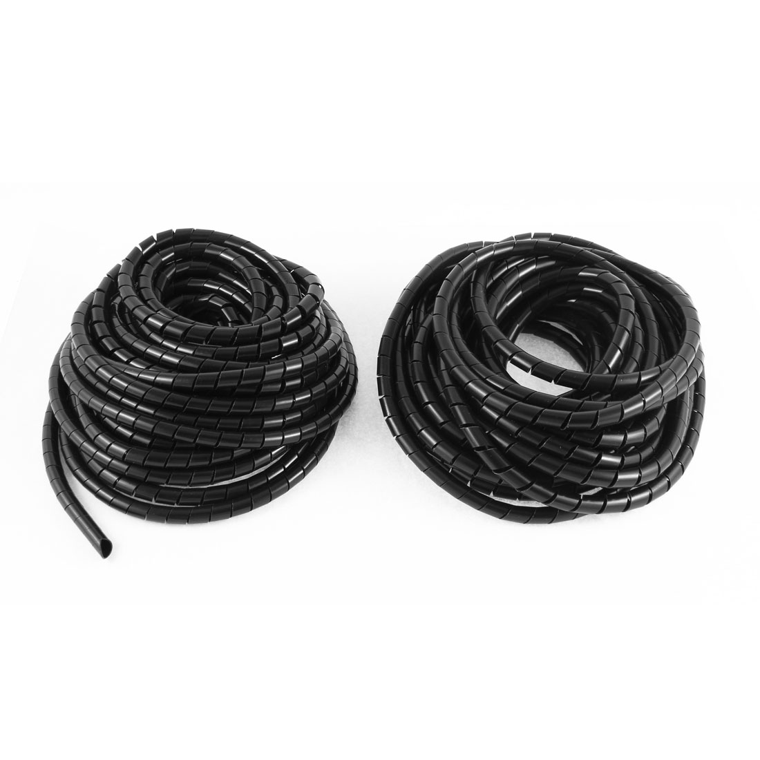 3pcs 33ft 10Meter 8mm OD Black Flexible Wire Spiral Wrap Sleeving Band Tube Cable Manager Protector