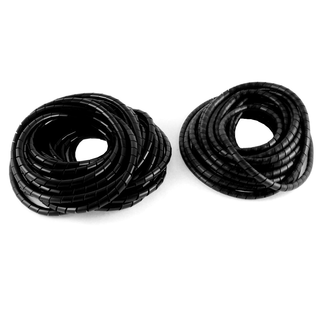 2pcs 33ft 10M Long 8mm OD Black Flexible Wire Spiral Wrap Sleeve Band Tube Cable Manager Protector