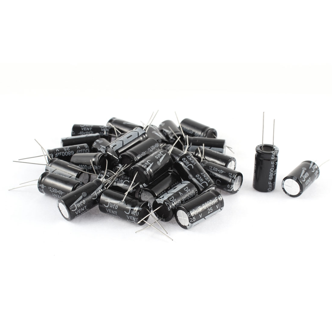 30Pcs 25V 6800UF Radial Leads Through Hole 16mm x 31mm Aluminum Electrolytic Capacitor