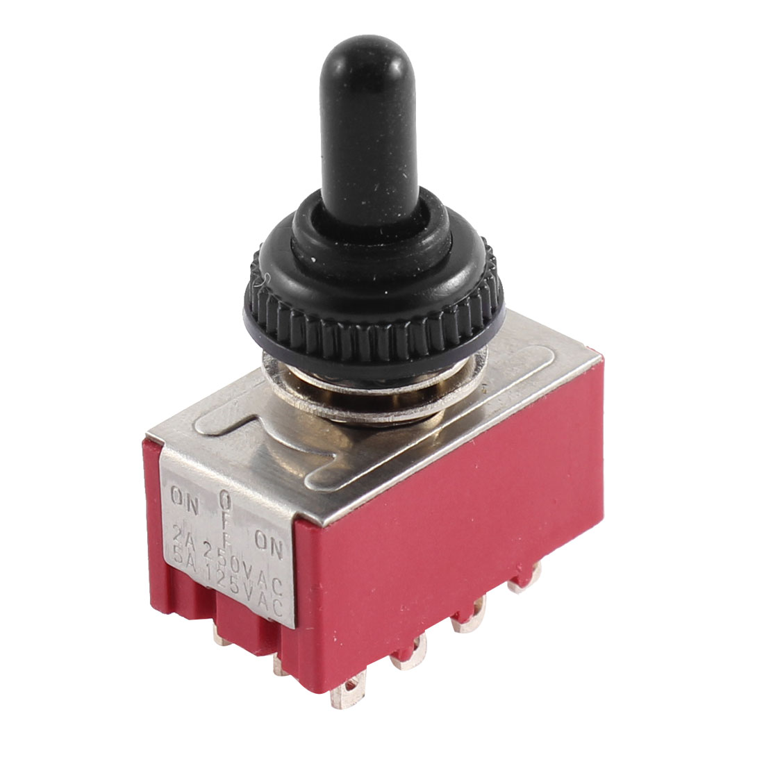 Waterproof AC 125V 5A 250V 2A 12 Terminals 4PDT ON/ON 3 Positions Toggle Switch