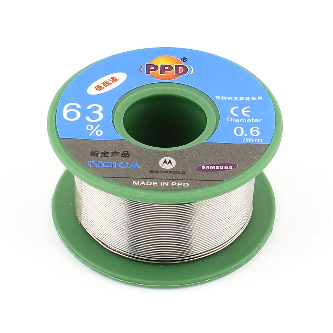 0.6mm 63/37 Tin Lead Welding Soldering Solder Wire Rosin Core Reel Roll