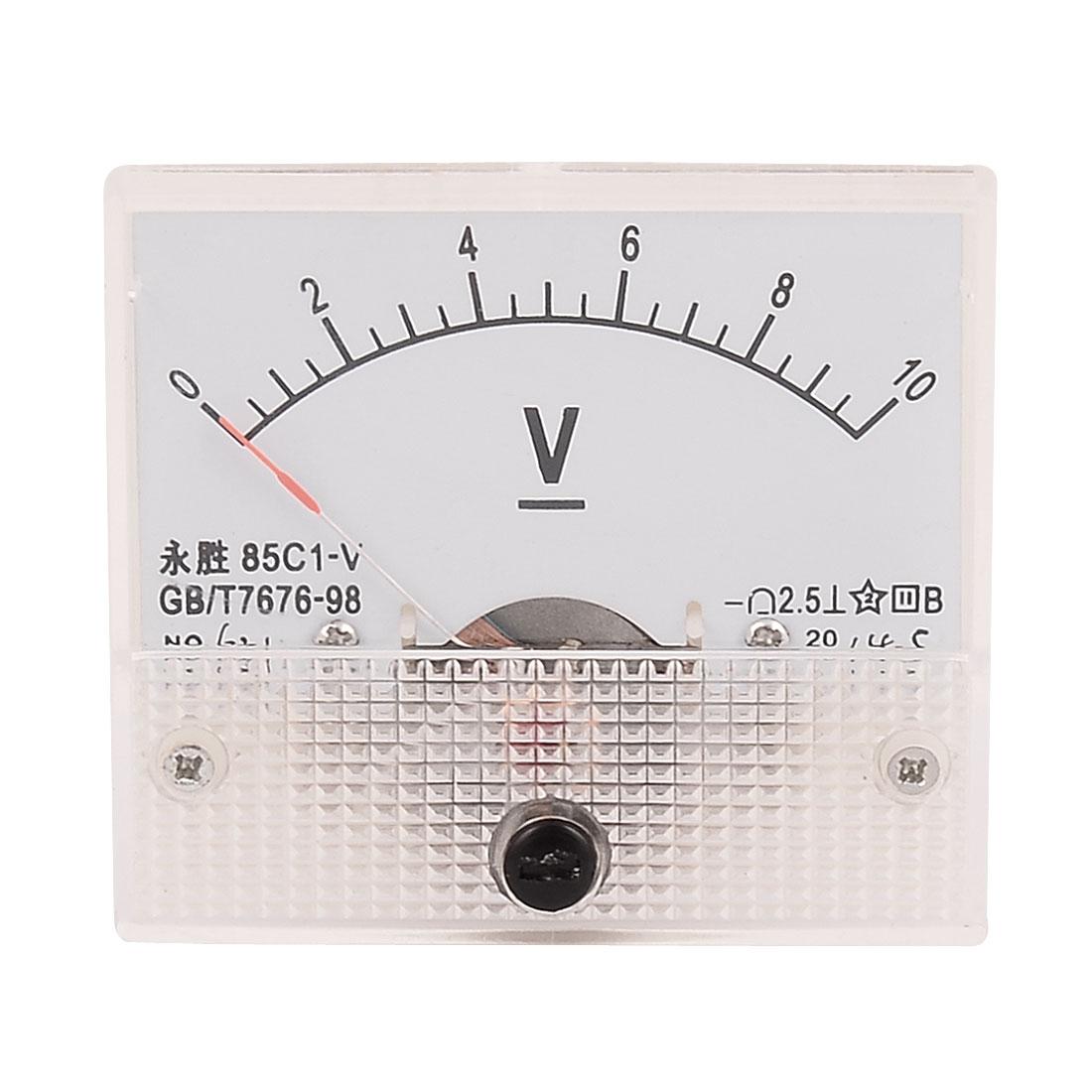 85C1-V DC 0-10V Voltage Analogue Dial Needle Panel Meter Voltmeter