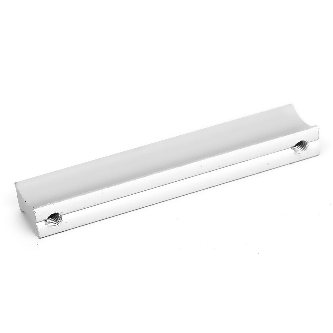 Drawer Dresser Cupboard Wardrobe Hardware Aluminium Pull Handle Grip Silver Tone