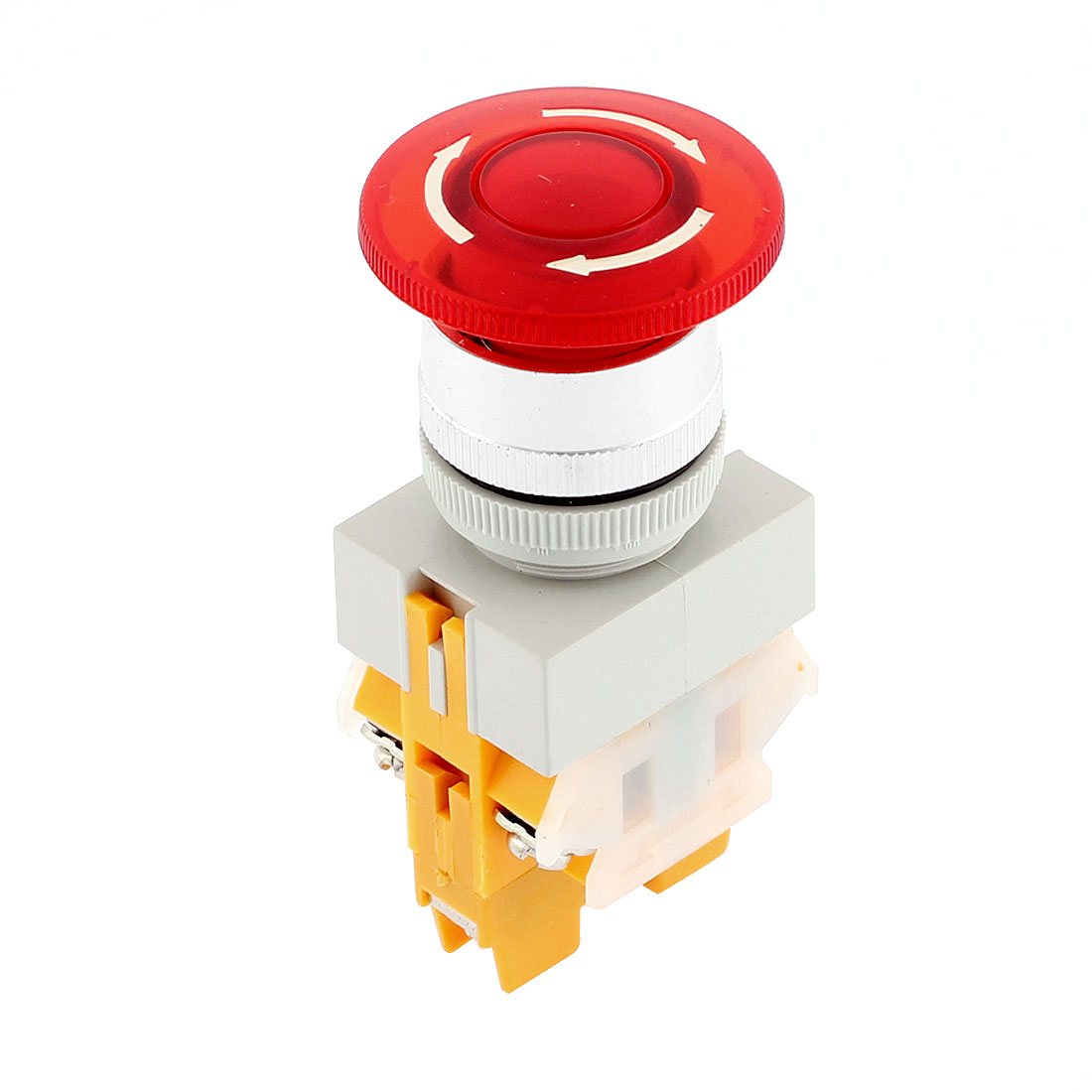 Emergency Stop Latching Red Sign Push Button Switch NC SPST 415V 10A