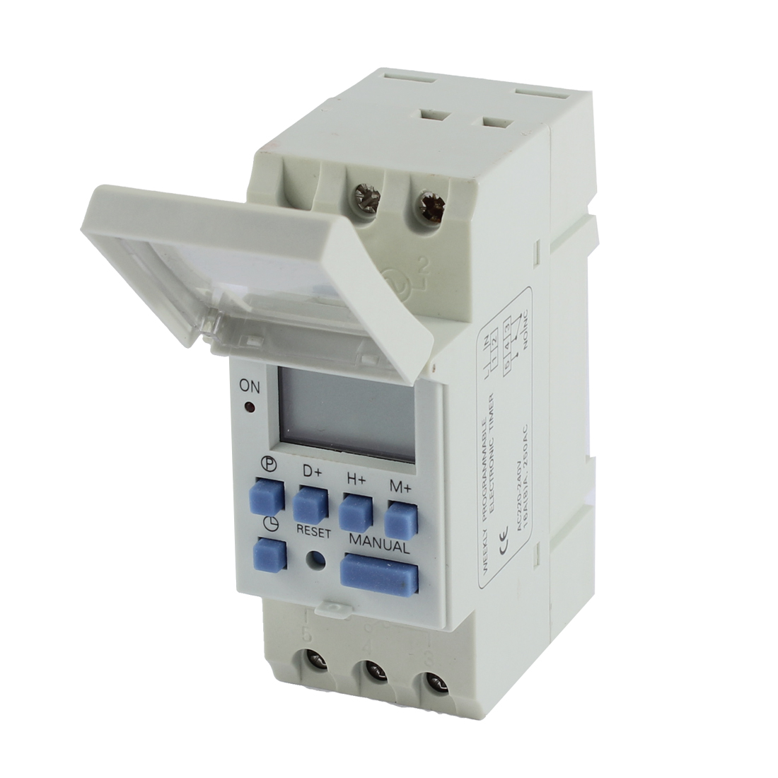DIN Rail Mount Digital LCD Weekly Programmable Electronic Relay Timer AHC15A AC220V-240V