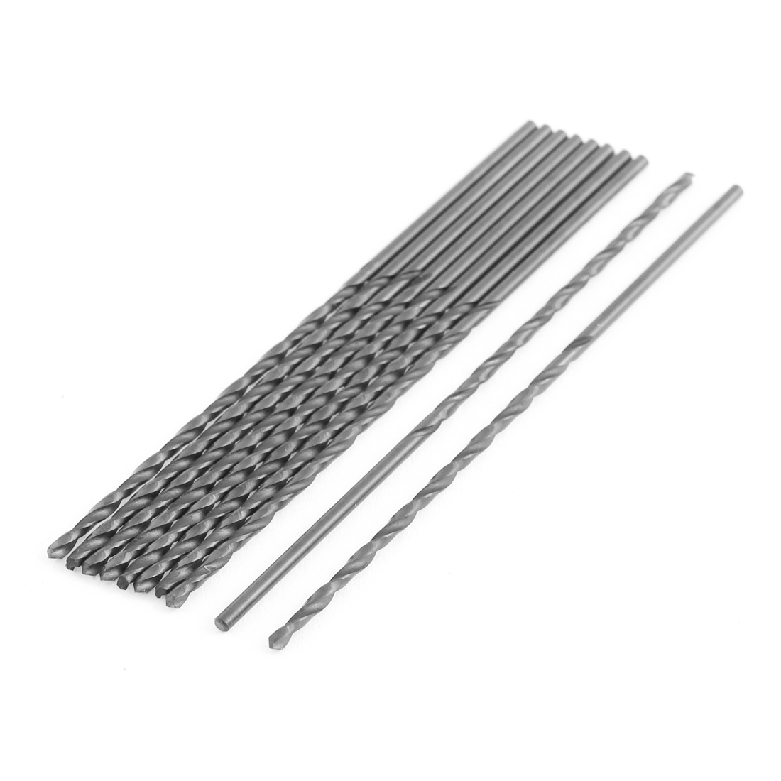 10 Pcs 2mm Cutting Dia 2mm Straight Shank HSS Electrical Twist Drilling Bit