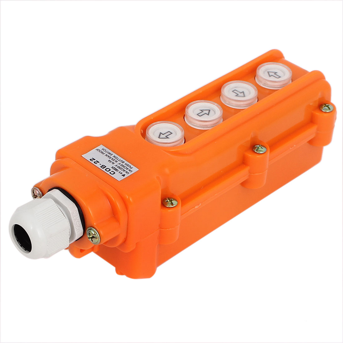 AC 250V 5A AC500V 2A 4 Ways Up Down Left Right Hoist Crane Push Button Pushbutton Switch Control Station