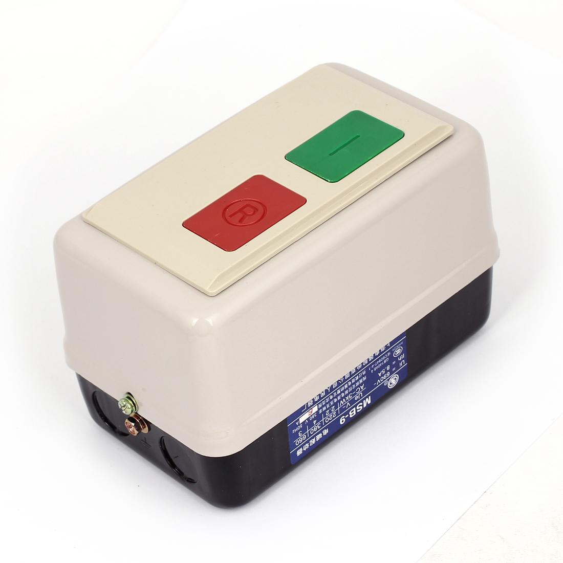 AC 220V 50Hz 4-6A Adjustable 3 Phase Electromagnetic Magnetic Starter Motor Control Contactor