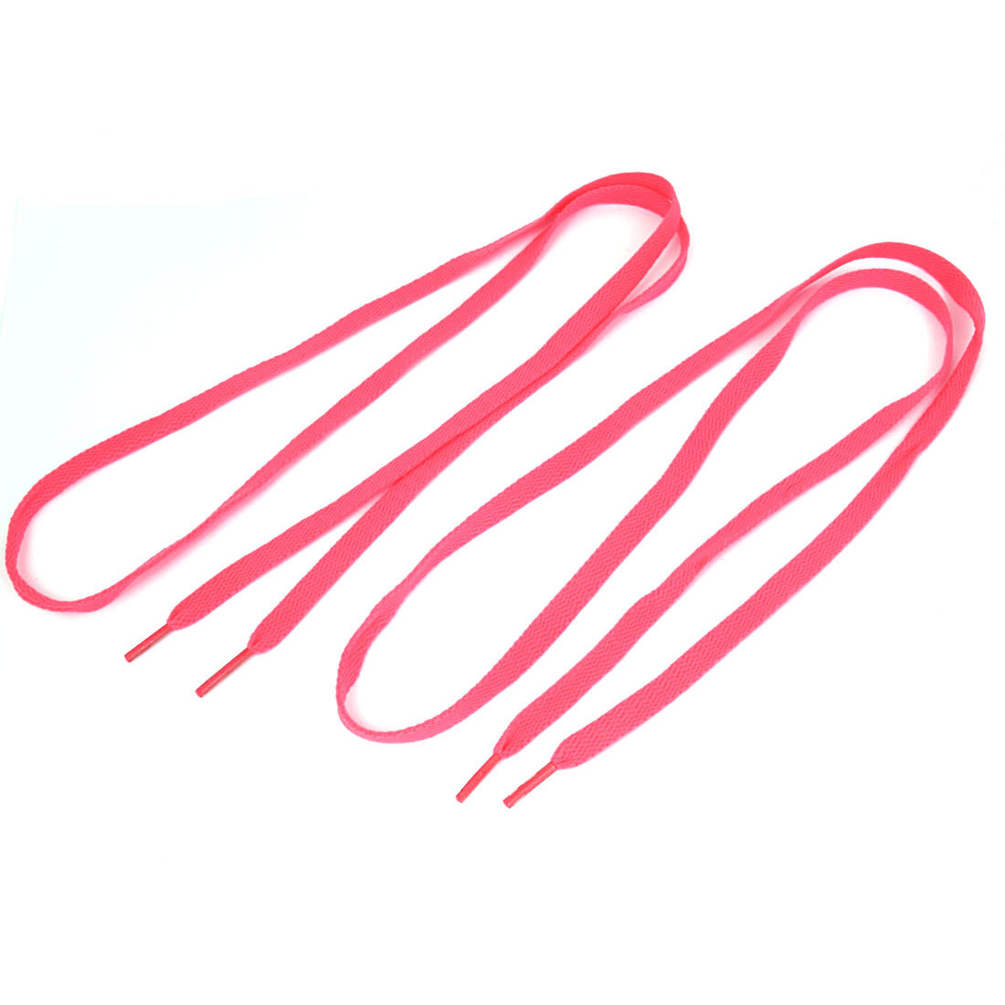 Pair Pink Plastic Tip Flat Shoelaces Shoe Lace String for Sports Shoes Boots Sneakers Skates