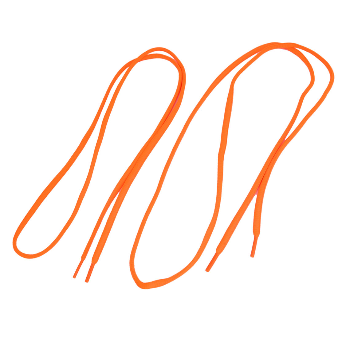 "Pair Orange Plastic Tip Round Shoelaces Sneakers Boots Shoes Laces Strings Cords 43"" Long"