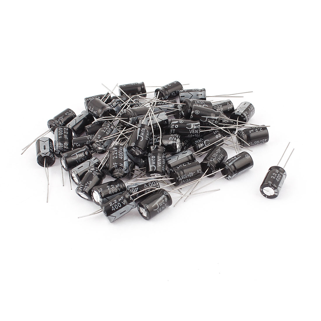 50pcs 8 x 13mm Cylindrical Radial Lead Electrolytic Capacitor 105C 2.2uF 400V