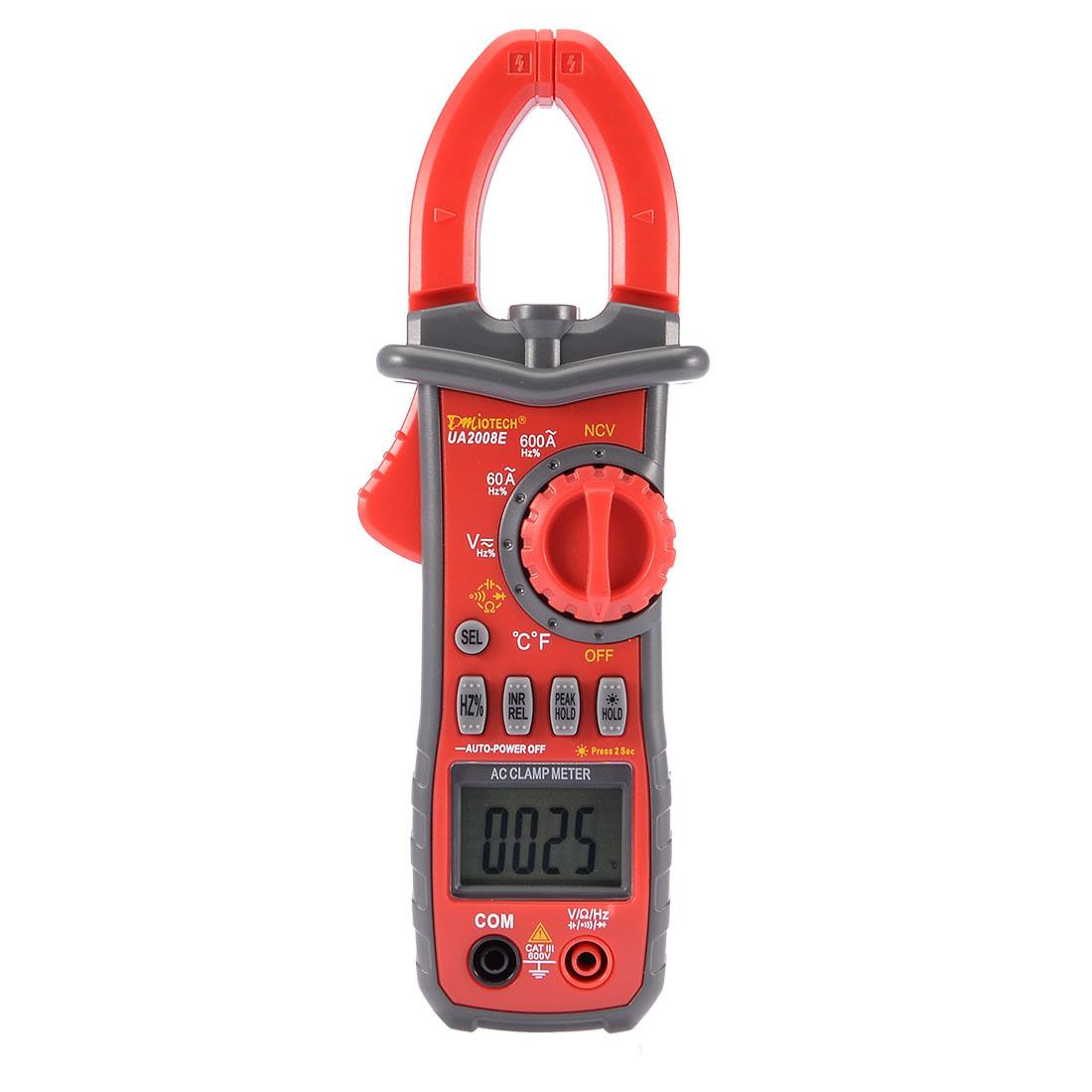 AC/DC LCD Multimeter Voltmeter AC Ammeter Ohmmeter Tester Digital Clamp Meter