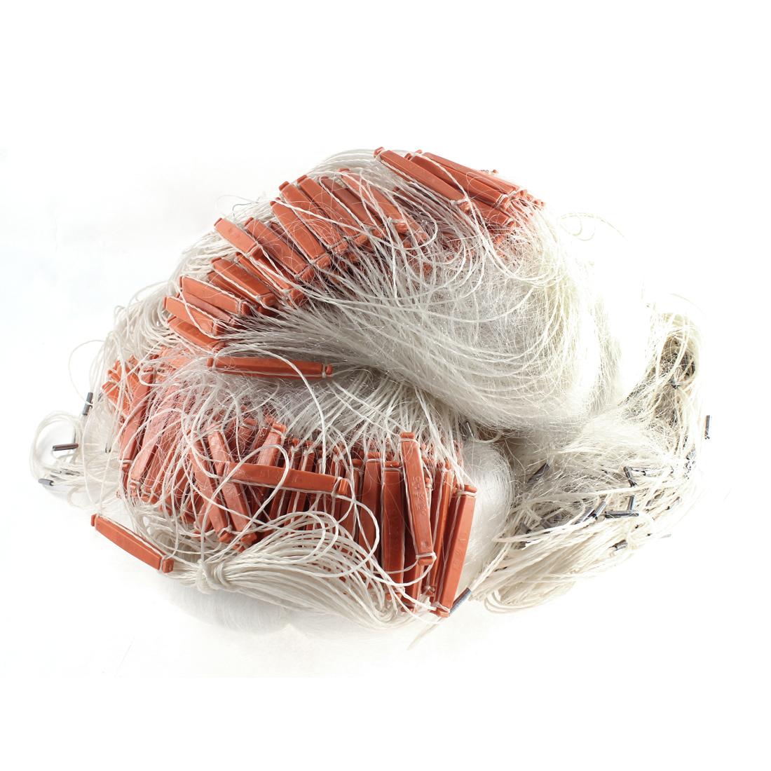 Monofilament Gill Net Fishing Angling Tool 3cm x 3cm Mesh Hole 50mx2m White