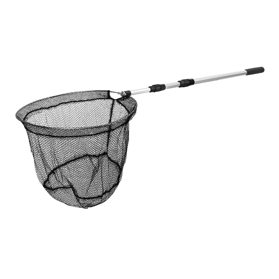 Telescoping Aluminium Handle Foldable Fishing Landing Dip Net 138cm 3 Sections