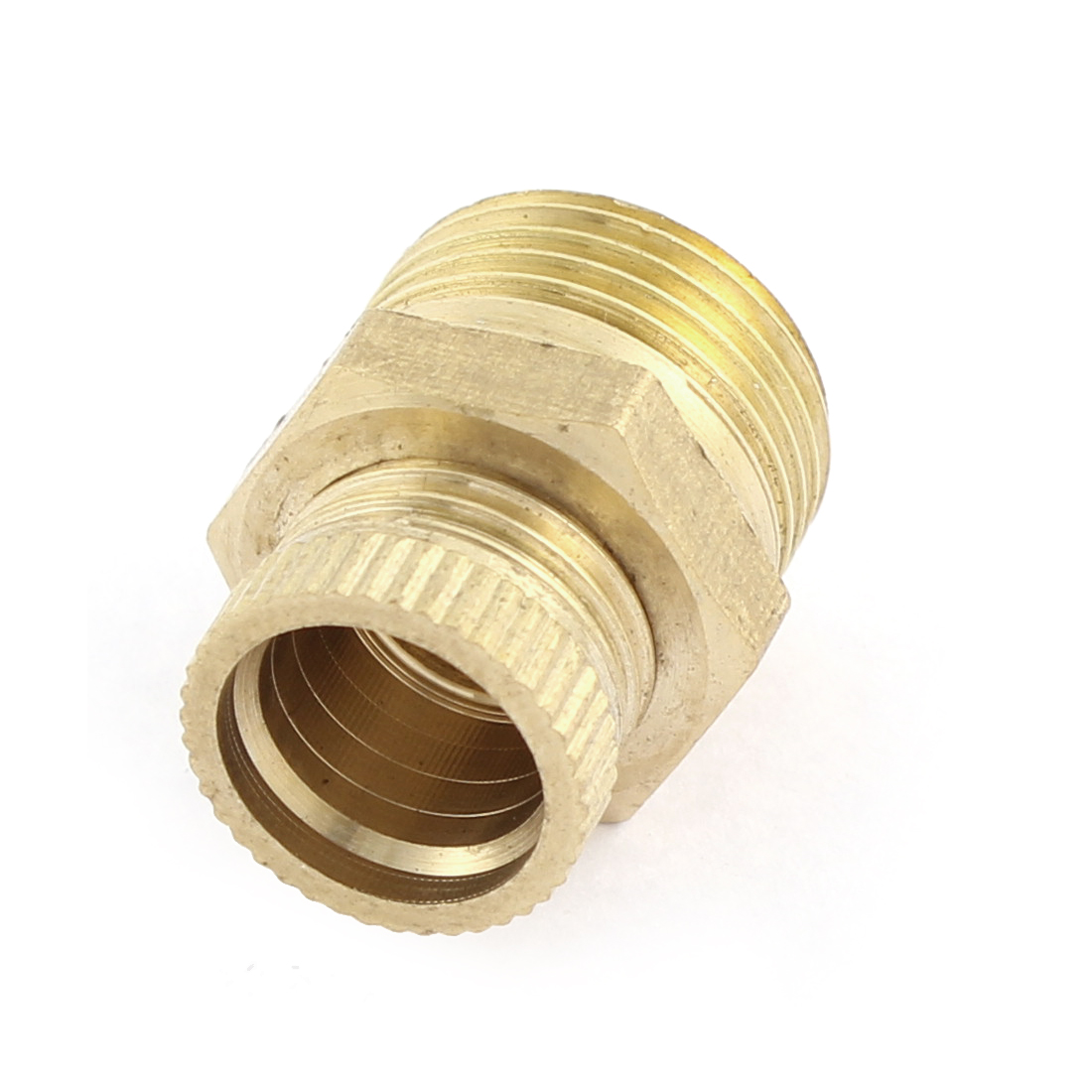 Air Compressor 16mm Male Thread Metal Water Drain Valve Connector Brass Tone