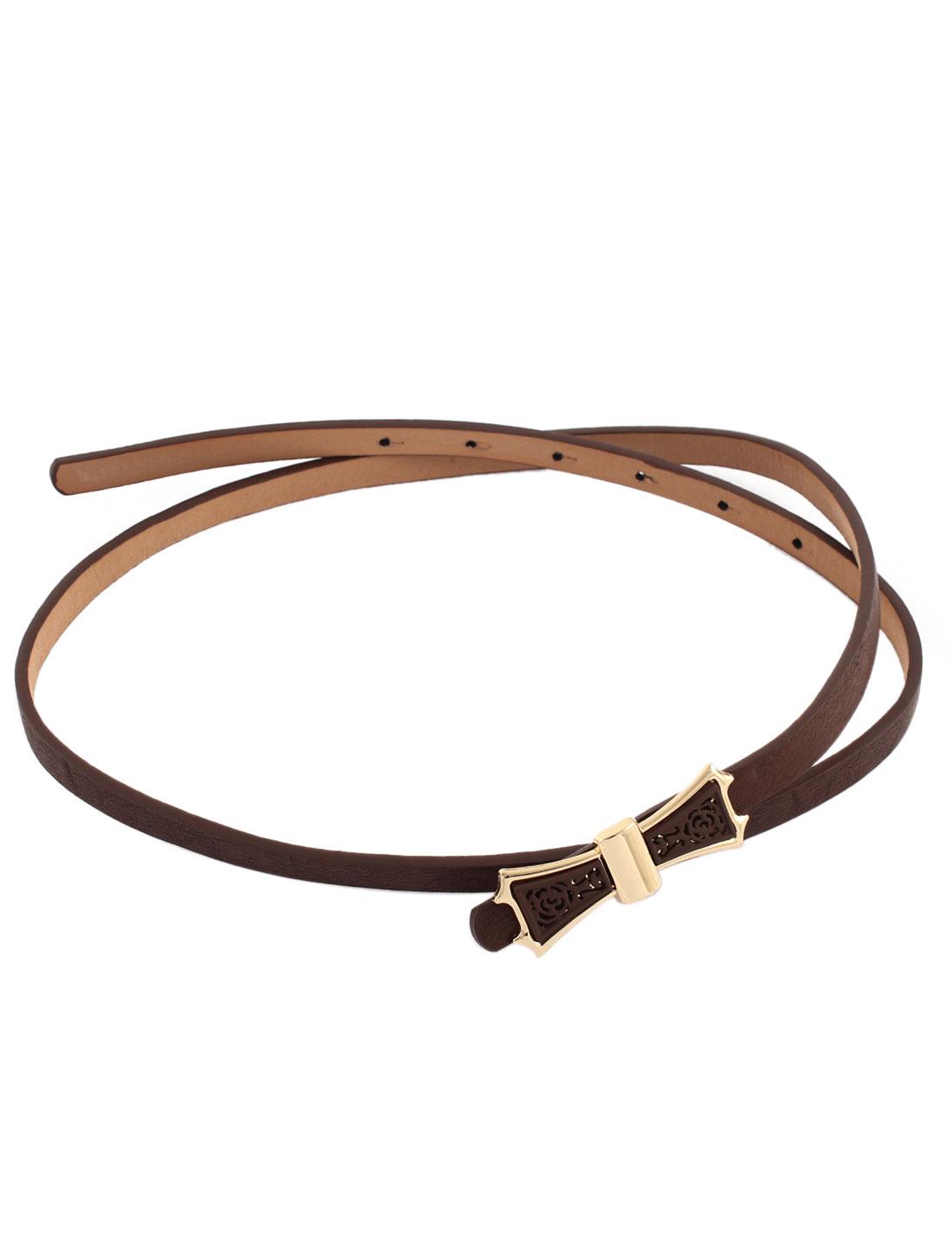 Press Buckle Slim Adjustable Waist Belt for Lady