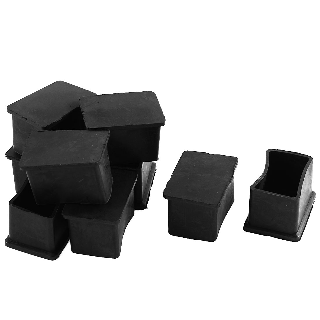 9 Pcs Furniture Chair Table Leg Rubber Foot Covers Protectors 25mm x 37mm