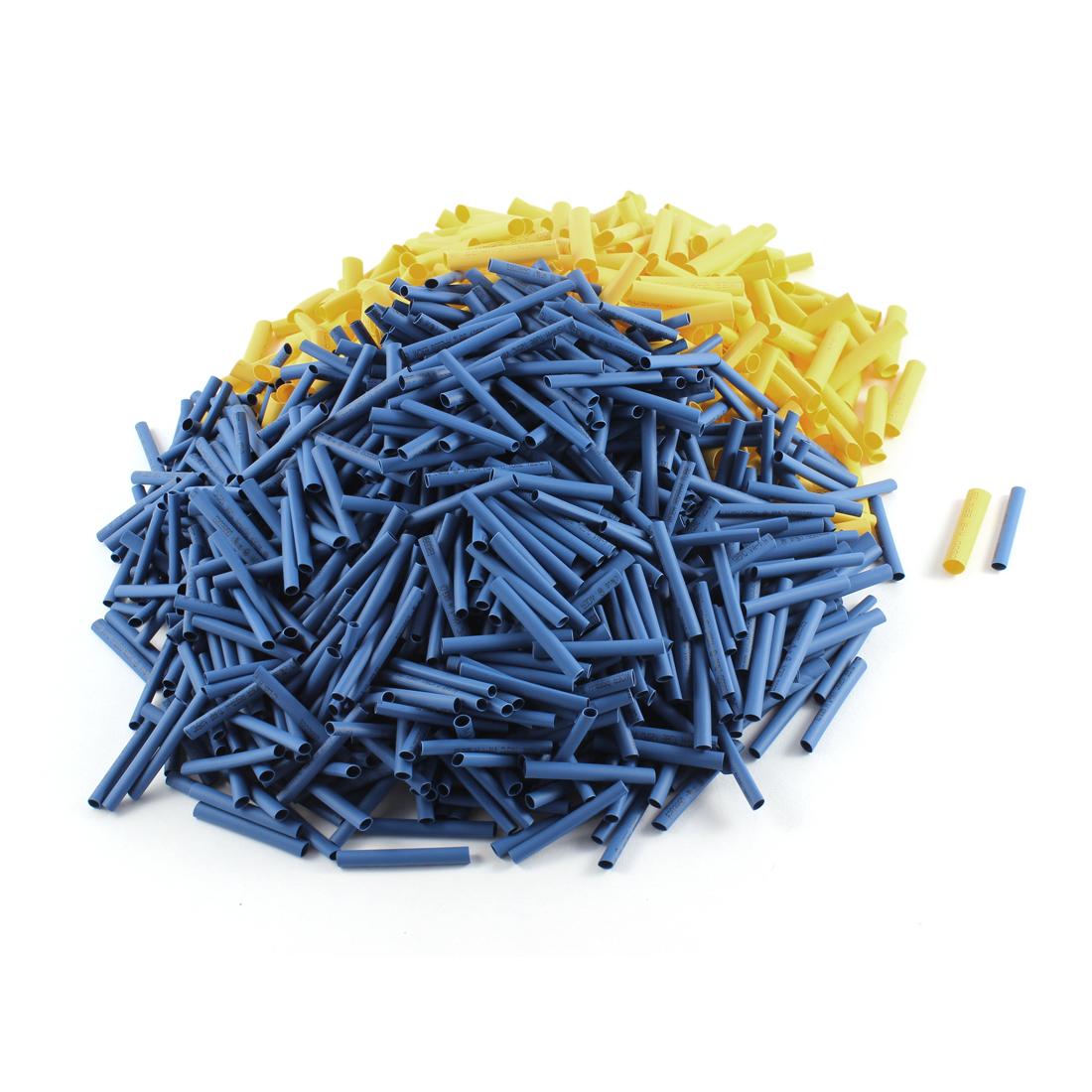 Polyolefin Heat Shrinkable Flexible Tubes Yellow Blue 1300 Pcs