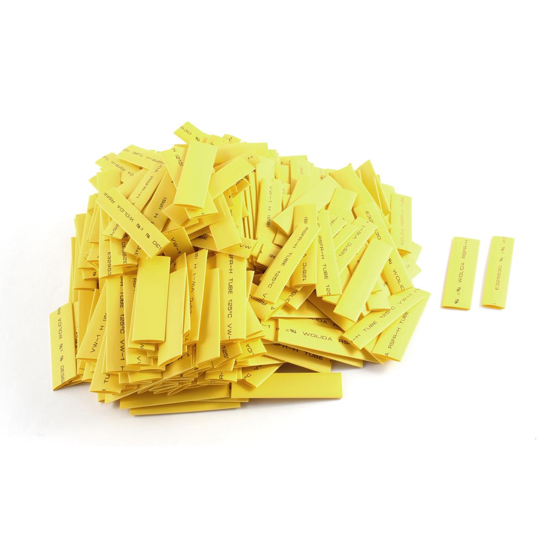 Polyolefin Heat Shrinkable Tubes Yellow 10.0mm 8.0mm 400 Pcs