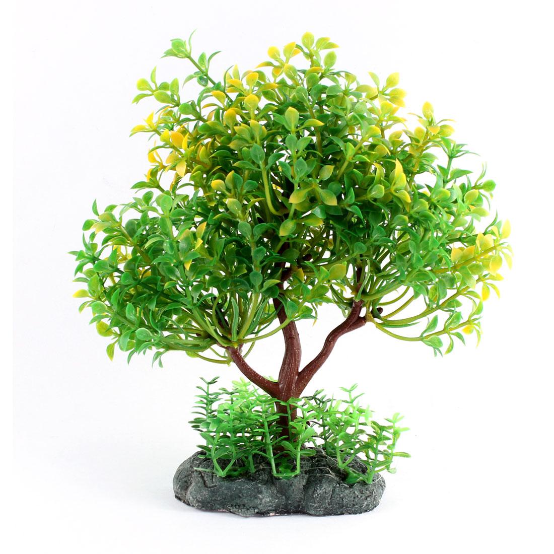 Green Emulational Aquarium Plastic Plant Ornament