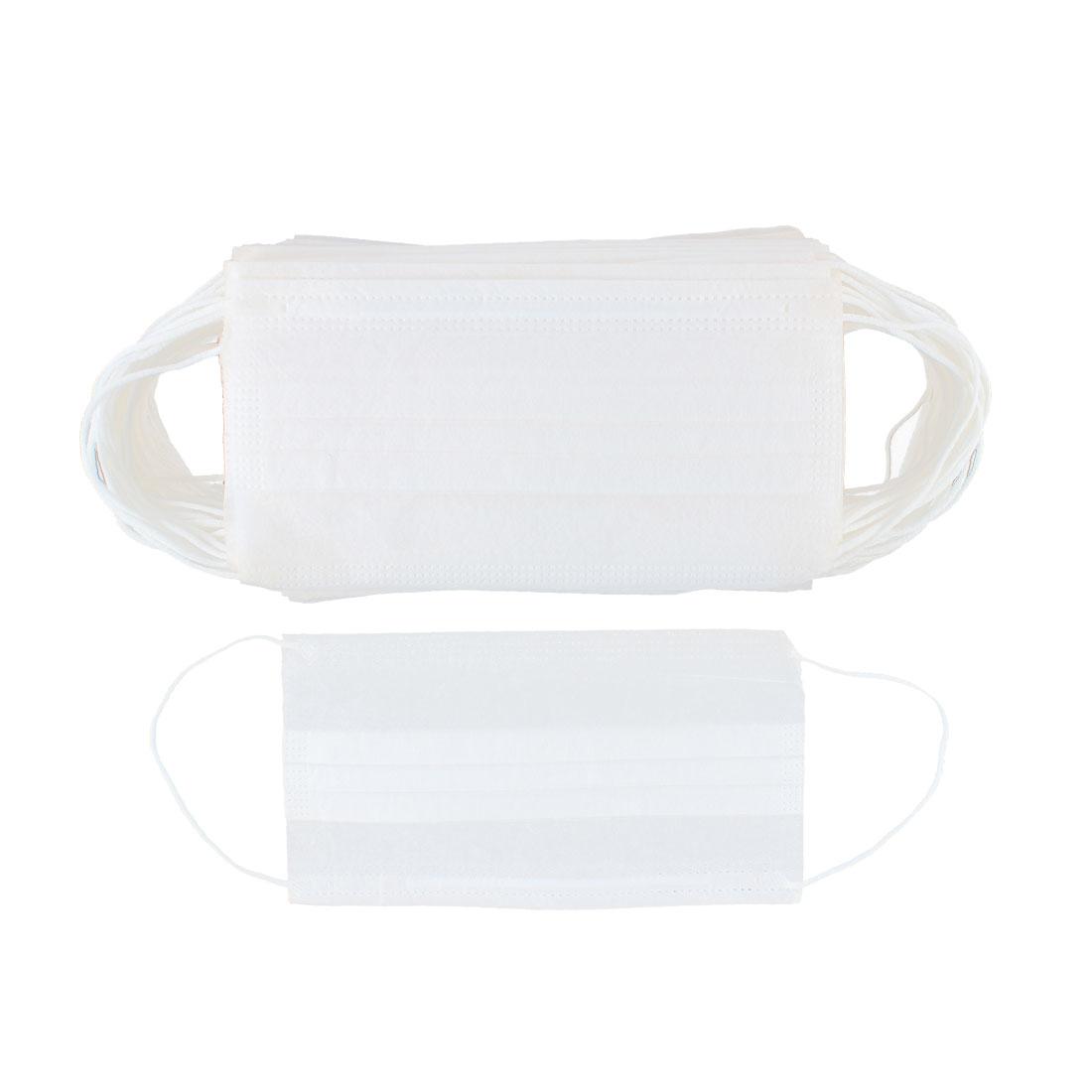 Disposable Oral Surgery Mouth Face Masks White 50Pcs